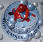 Spider man child's cake