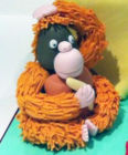 Model cake topper  orangutan